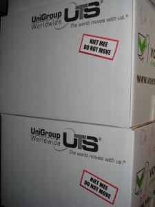De eerste dozen...