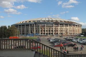 De Luzhniki Arena wordt verbouwd voor het WK Voetbal in 2018.